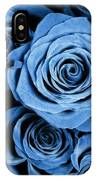 Moody Blue Rose Bouquet IPhone Case