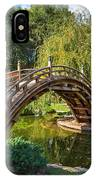 Moonbridge - The Beautifully Renovated Japanese Gardens At The Huntington Library. IPhone Case