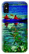 Moonlight Kayak Ride Along The Coastline Of The Lachine Canal Quebec Sea Scenes Carole Spandau IPhone Case