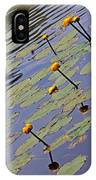 Moore State Park Lily Pads 1 IPhone Case