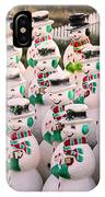 More Snowmen IPhone Case