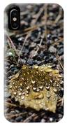 Morning Dew On Autumn Leaf IPhone Case