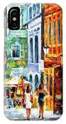 Morning Gossip - Palette Knife Oil Painting On Canvas By Leonid Afremov IPhone Case