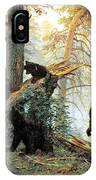 Morning In A Pine Forest IPhone Case
