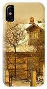 Morning Light Log House IPhone Case