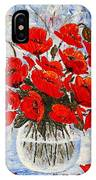 Morning Red Poppies Original Palette Knife Painting IPhone Case