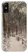 Morning Snow Path IPhone Case