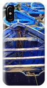 Moroccan Blue Fishing Boats IPhone Case