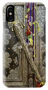 Morocco, Tin Decorated Cabinet With Tin IPhone Case