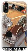 Morris Major 6 - Vintage Car Poster IPhone Case