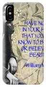 Morris Quotation About Art IPhone Case
