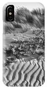 Morro Beach Textures Bw IPhone Case