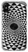 Mosaic Circle Symmetric Black And White IPhone Case