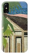 Mosaic Of Church With Palm Tree IPhone Case