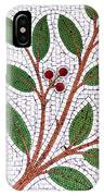 Mosaic Picture Of Tree Branch  IPhone Case