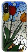 Mosaic Stained Glass - Spring Shower IPhone Case