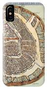 Moscow: Map, 1662 IPhone Case