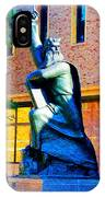 Moses Statue At The Main Library IPhone Case