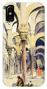 Mosque At Cordoba, From Sketches IPhone Case