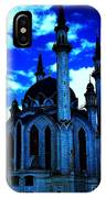 Mosque In Blue Colors IPhone Case