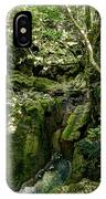 Moss And Stones By The Turquoise Forest Pond On A Summer Day No4 IPhone Case