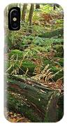 Moss Covered Logs On The Forest Floor IPhone Case