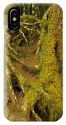 Moss-covered Tree Trunks  IPhone Case