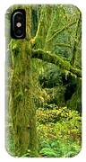 Moss Draped Big Leaf Maple California IPhone Case