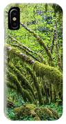 Moss Grows On Vine Maple Trees  Acer IPhone Case