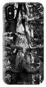 Moss On The Evergreens II In Black And White IPhone Case