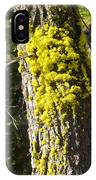 Moss On Tree Along Sentinel Dome Trail In Yosemite Np-ca IPhone Case