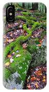 Moss Roots Rock And Fallen Leaves IPhone Case