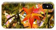 Mossy Lichen Tree Leaves Art Prints Autumn IPhone Case