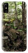 Mossy Rocks In The Forest IPhone Case