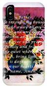 Most Powerful Prayer With Flowers In A Vase IPhone Case
