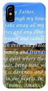 Most Powerful Prayer With Irises IPhone Case