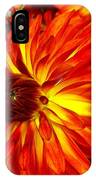 Mostly Orange Dahlia Flower IPhone Case