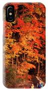 Mother And Son Canoeing Near Fall IPhone Case
