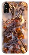 Mother Nature's Christmas Decorations - Golden Oak Leaves Jewels IPhone Case