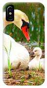 Mother Swan And Baby IPhone Case