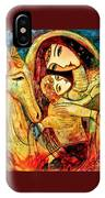 Mother With Child On Horse IPhone Case