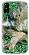 Mother Wolf Nuzzles Cubs IPhone Case