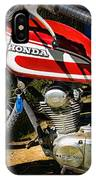 Motorcycle - 1974 Honda Cl 125 Scrambler Classic IPhone Case