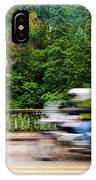Motorcycle And Green Forest IPhone Case