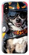 Motorcycle Chihuahua IPhone Case