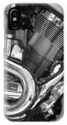 Motorcycle Close-up Bw 1 IPhone Case