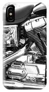 Motorcycle Close-up Bw 3 IPhone Case
