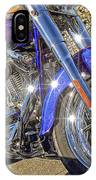 Motorcycle Without Blue Frame IPhone Case