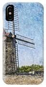 Moulin De Daudet Fontvieille France On A Texture Dsc01833 IPhone Case