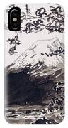 Mount Fuji Spring Blossoms IPhone X Case